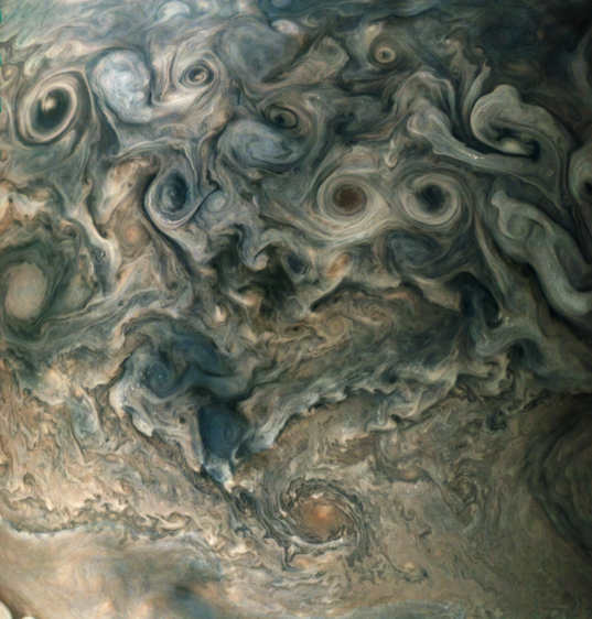 North polar storms on Jupiter