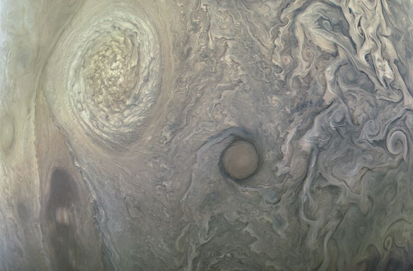 Storms on Jupiter from Juno