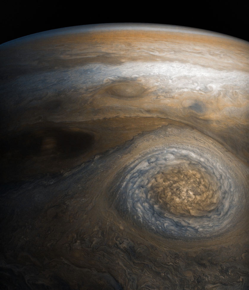 Jupiter from Juno's seventh perijove
