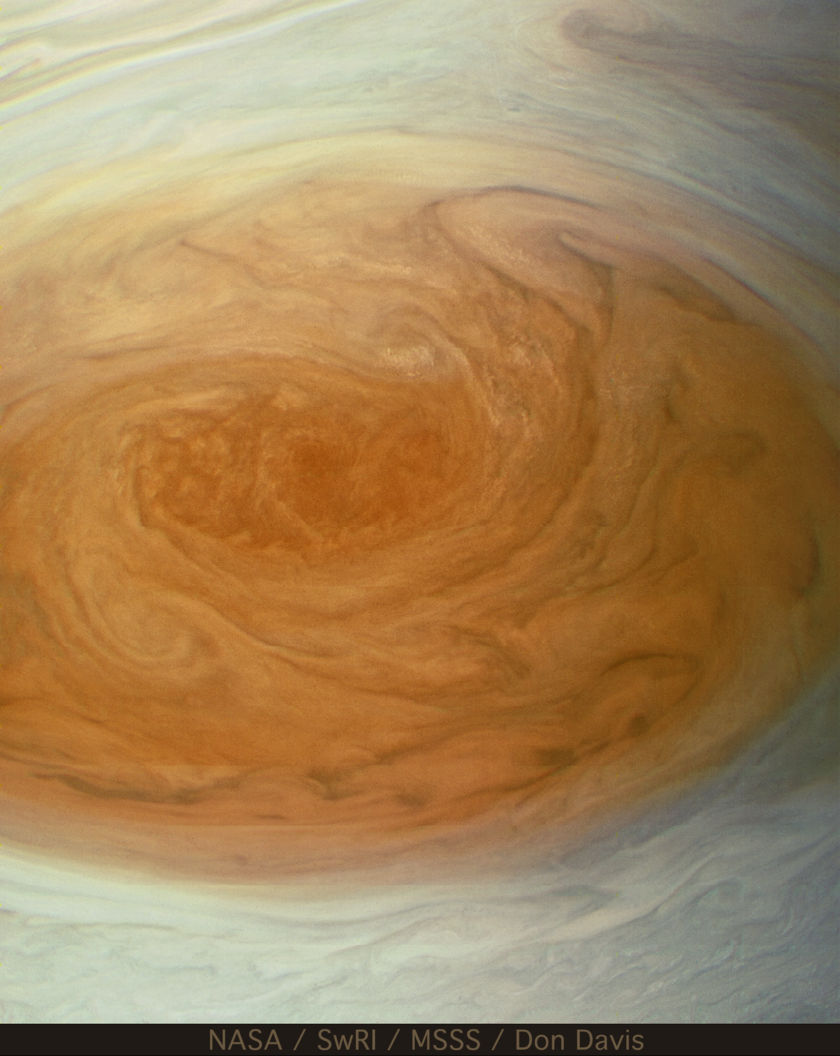 Looking into the depths of the Great Red Spot