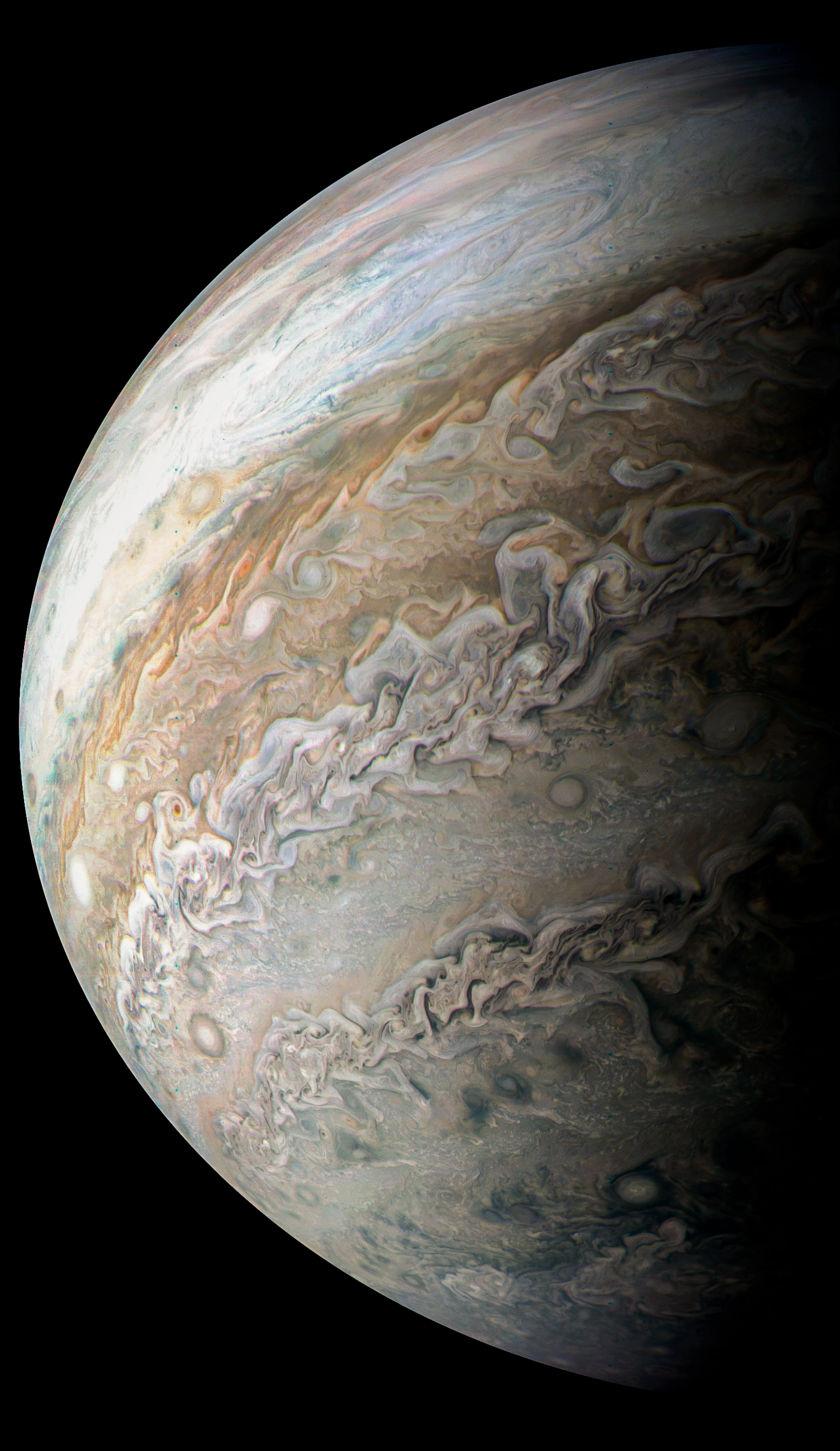 Dark spots on Jupiter