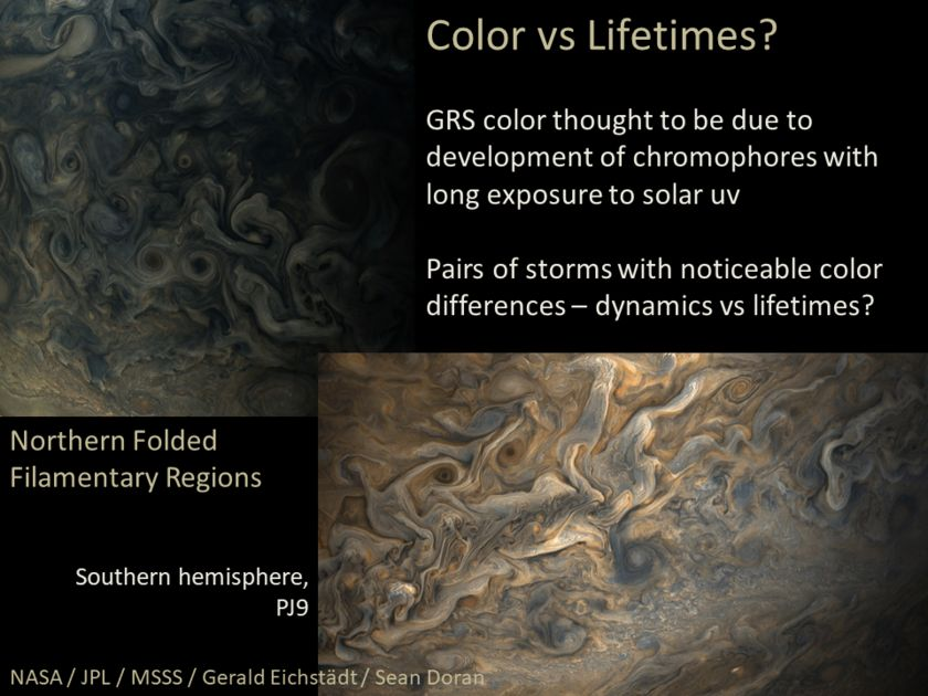 Candy Hansen at AGU17, slide 23: Color versus lifetime?