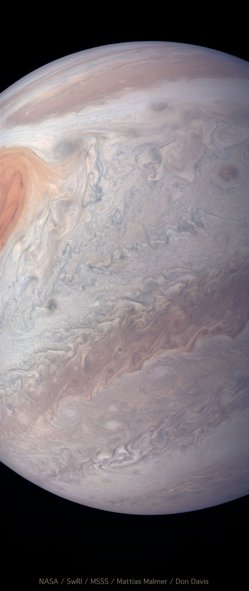 Juno perijove 12 pass in natural color