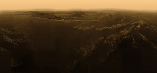 Huygens side-looking color panorama