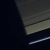 Rings rising from Saturn's shadow