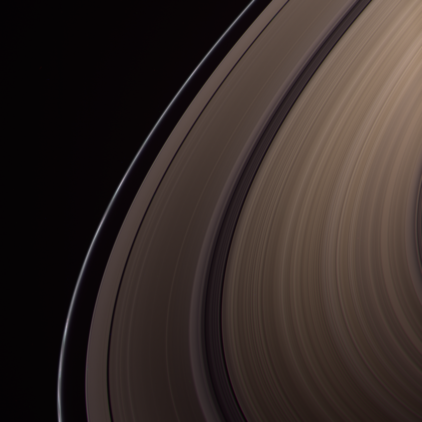 Saturn's rings near equinox