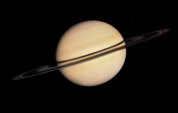 Pioneer 11 approaches Saturn