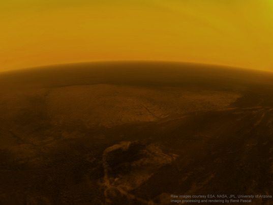 25 kilometers above the surface of Titan