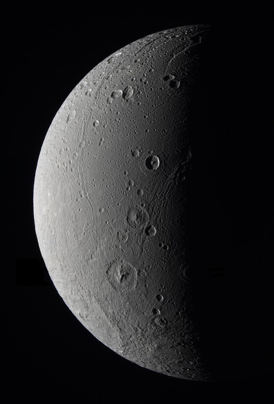 Dione in approximate true color