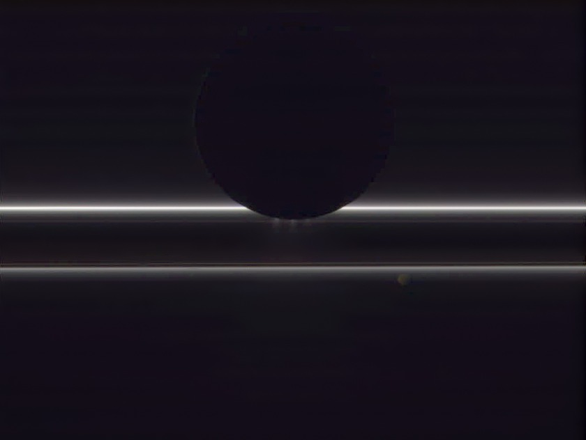 Enceladus, Prometheus, and the F ring