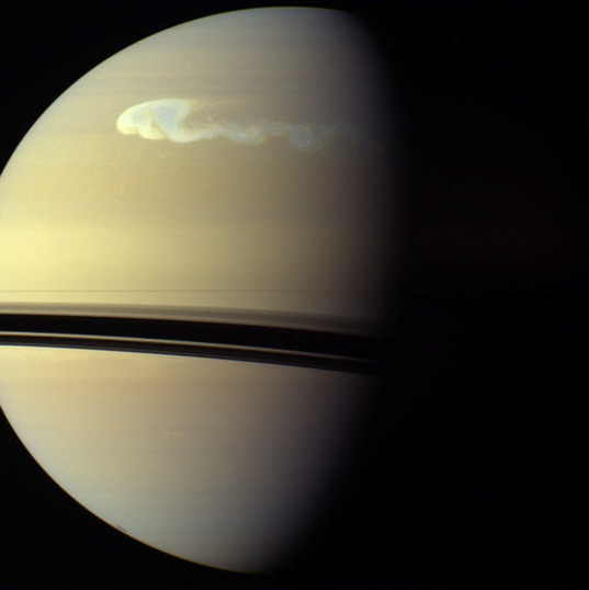 Enormous storm on Saturn