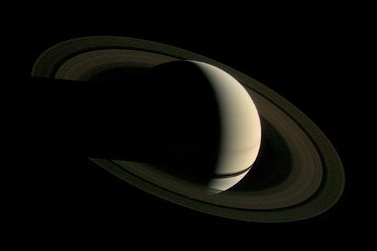 Voyager 1's departure shot of Saturn
