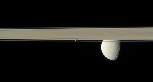Prometheus, Rhea, and the rings