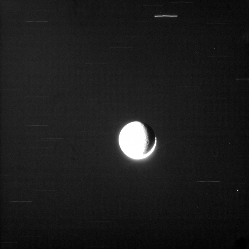 Searching for dusty rings at Rhea