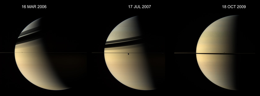 Saturn at three different seasons