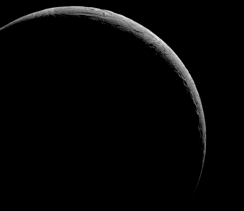 Enceladus crescent mosaic