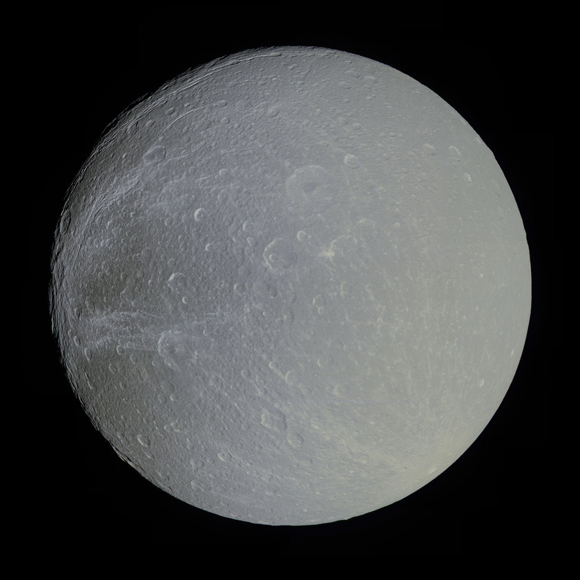 Huge color global mosaic of Dione