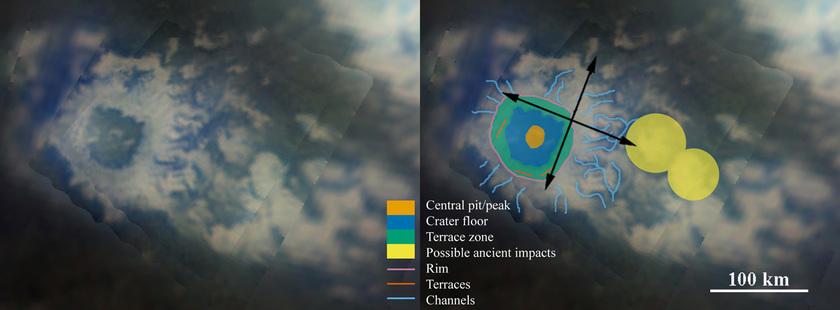 Geologic map of Selk crater, Titan