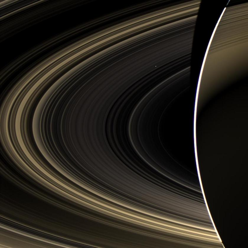 Cassini Spies Bright Venus from Saturn Orbit