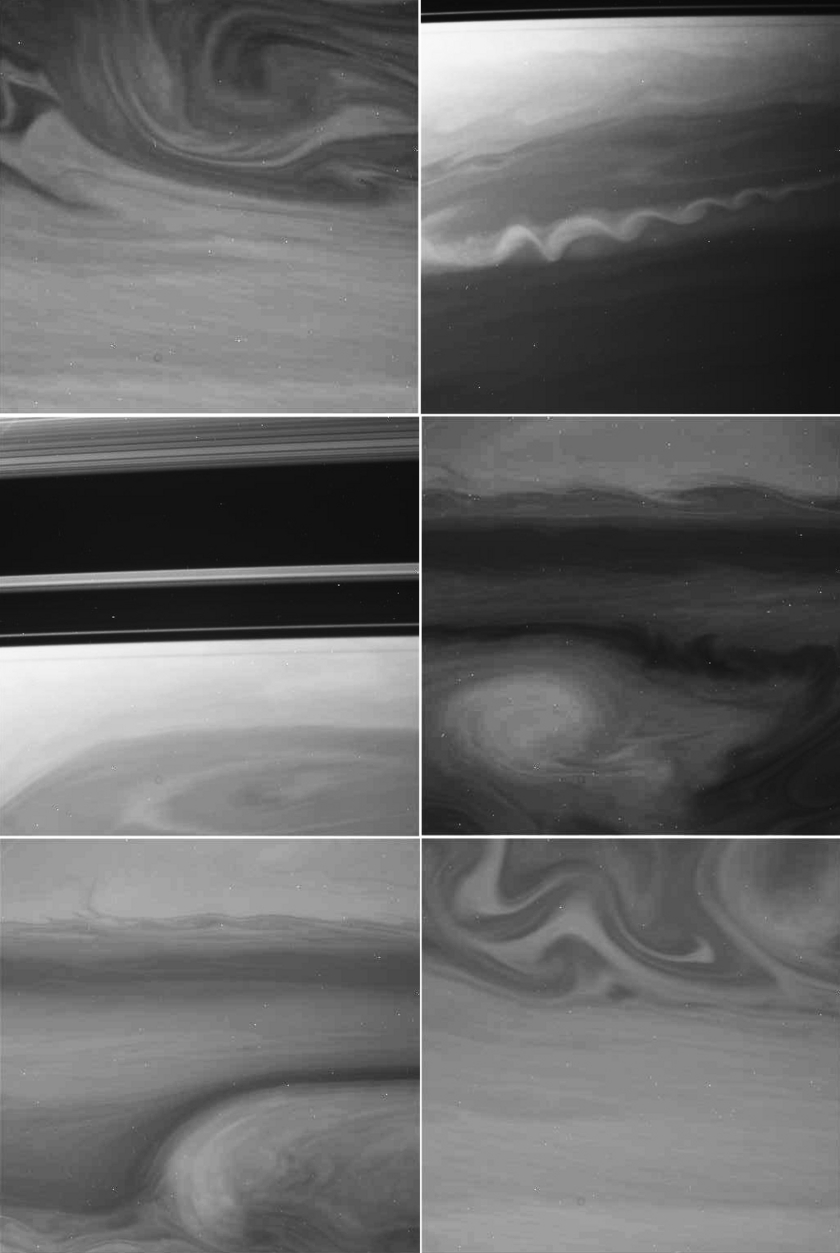 Saturn Storms Seen Through Methane Band Filter