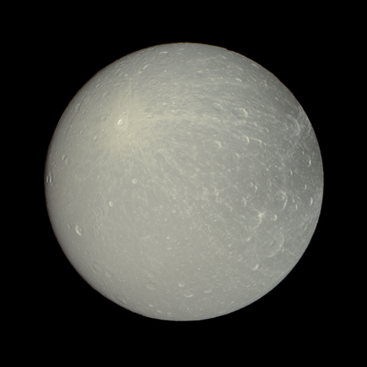 Color global low-phase view of Dione