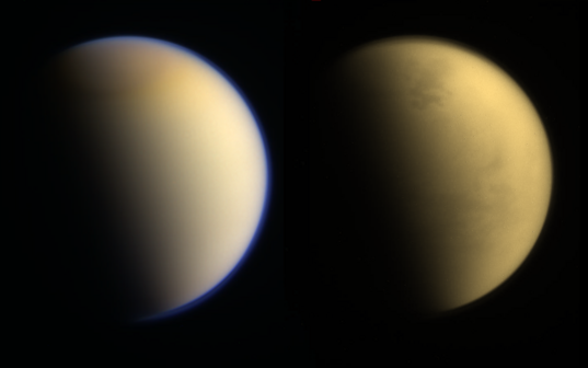 Above and below Titan's atmosphere