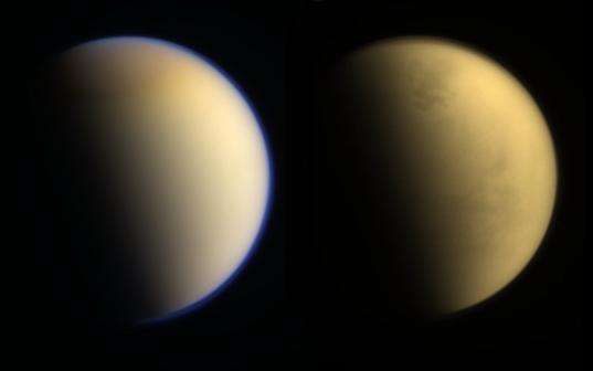 Above and below Titan's atmosphere