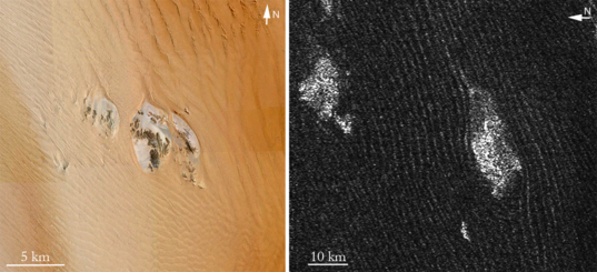 Dunes on Earth and Titan