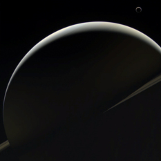 Saturn and Titan