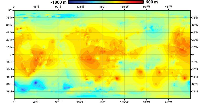 Global map of Titan's topography