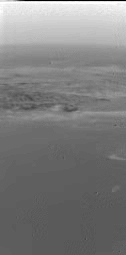Oblique view of Titan's mountains