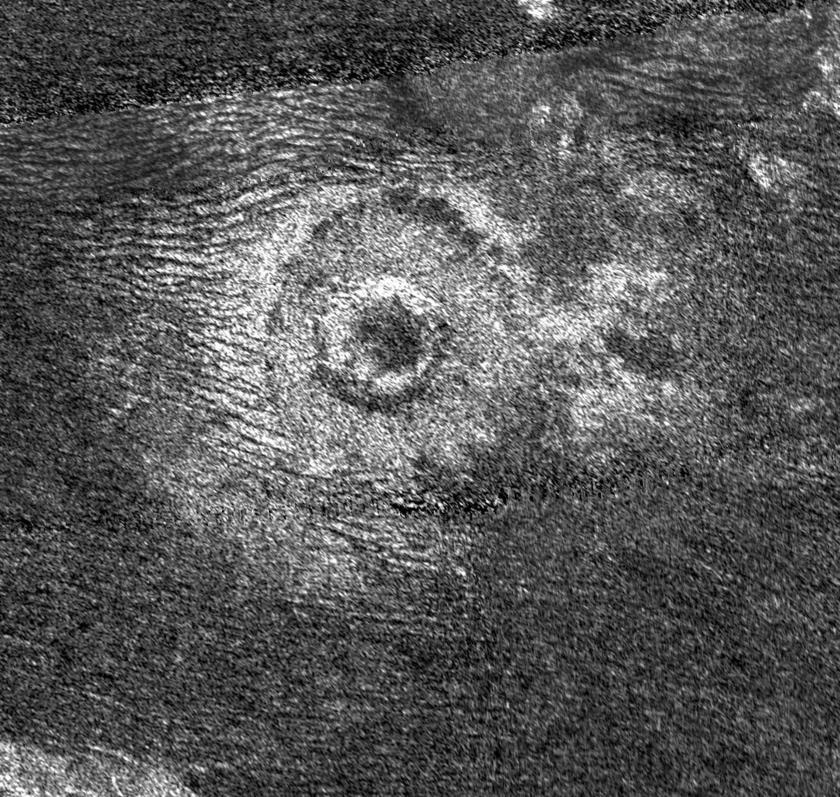 Newly discovered crater on Titan