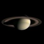 Gibbous Saturn and Rings