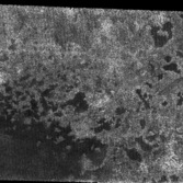 Probable lakes near Titan's north pole