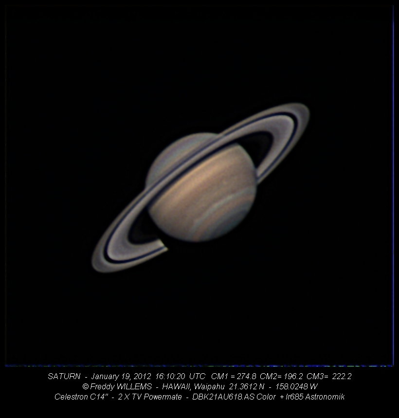 Saturn on January 19, 2012
