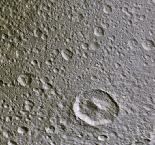 Craters on Dione