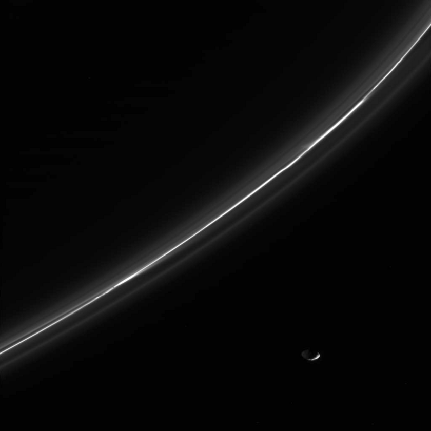 Pandora and the F ring