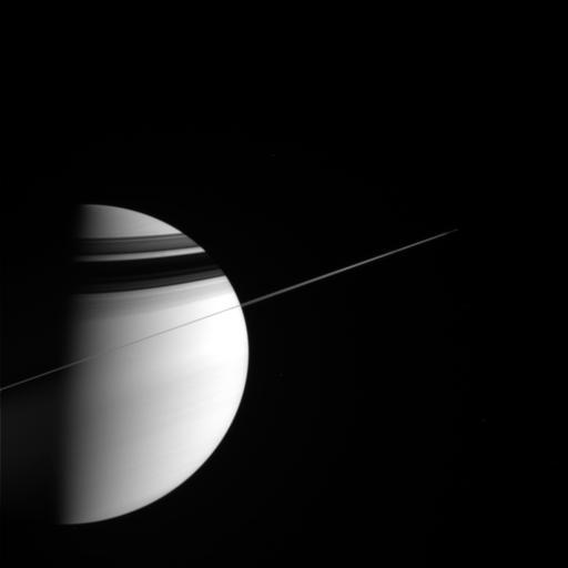 Cassini's view of Saturn on the inbound leg of Rev 19