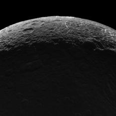 Crescent and Saturnlit Dione