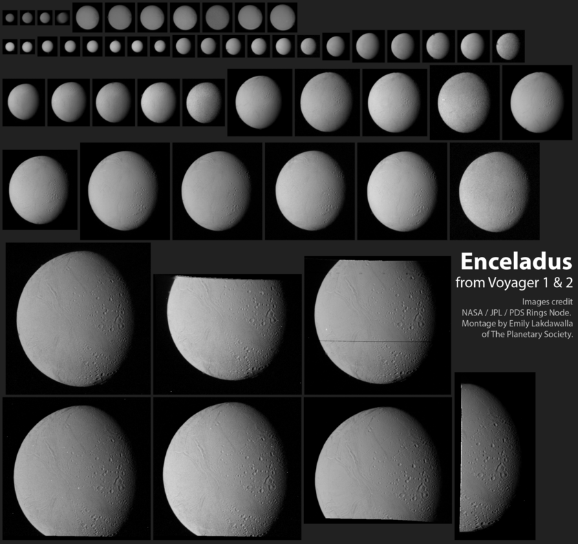 The Voyager Enceladus Image Catalog