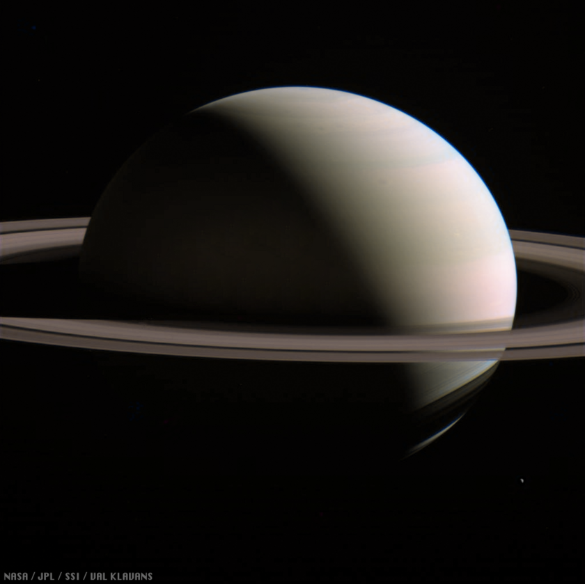 Saturn ring shadows and Enceladus