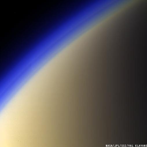 Titan's colorful haze layers