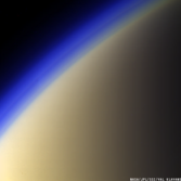 Titan's colorful haze layers