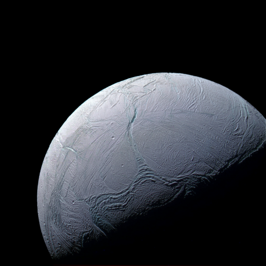 Cassini view of Enceladus, February 15, 2016