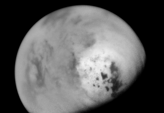 Cassini views Titan's lake-filled north