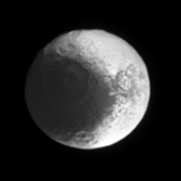 Iapetus' leading hemisphere and 'snowman'