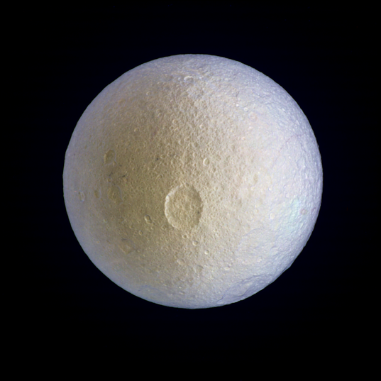 Tethys in enhanced color