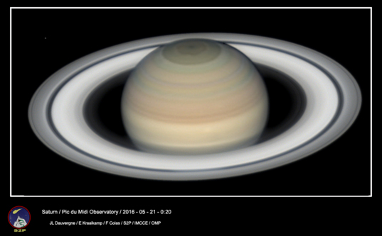 Saturn from Pic du Midi Observatory, May 21, 2016