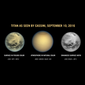 Crisp views of Titan's northern lakes and equatorial dunefields