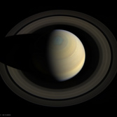 Flying over Saturn